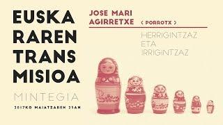 """Jose Mari Agirretxe. Porrotx: """"Herrigintzaz eta irrgintzaz"""""""
