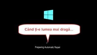 Eroare pornire PC Preparing automatic repair Diagnosing your PC
