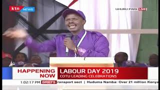 KNUT Secretary General Wilson Sossion's speech during 2019 Labour Day Celebration