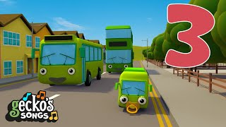 Learn to Count | Nursery Rhymes | Gecko's Garage | 5 Green Buses | Baby Bus Songs For Kids