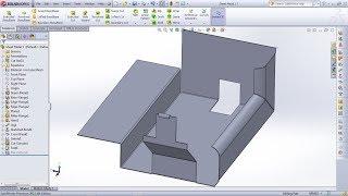 SolidWorks Sheet Metal Tutorial for Beginner - 1 | Base Flange/Tab, Edge Flange, Miter Flange, Hem
