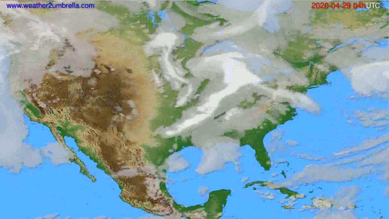 Cloud forecast USA & Canada // modelrun: 12h UTC 2020-04-28