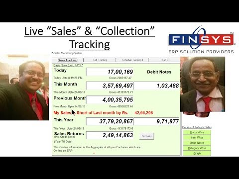 Live Sales Tracking, Live Collection Tracking.. in Finsys ERP Software