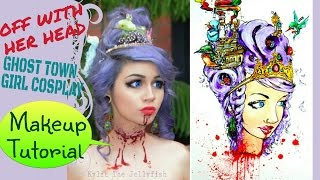 Makeup Tutorial - Off With Her Head Ghost Town Girl Cosplay |Kylie The Jellyfish|