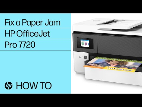 video huong dan xu li ket giay may in hp officejet pro 7740 wide format all in one g5j38a