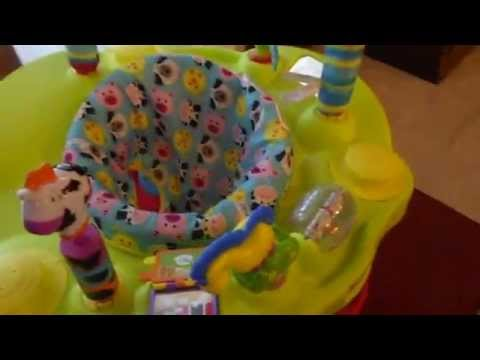 Evenflo ExerSaucer this bouncin barnyard baby jumper has a moo-riffic baby activity center