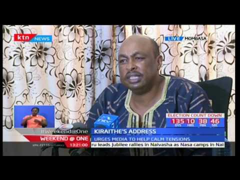 Eric Kiraithe assures Kenyans of calm ahead of NASA and Jubilee rallies in Mombasa