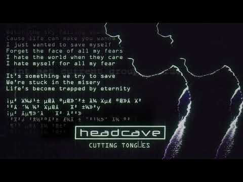headcave - Cutting Tongues (Lyric Video) online metal music video by HEADCAVE
