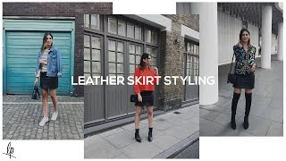 HOW TO STYLE A LEATHER SKIRT | Lily Pebbles