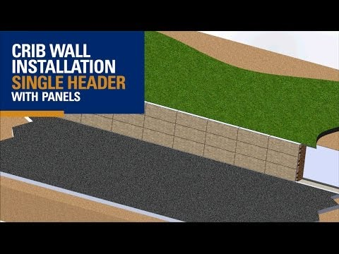 Crib Wall - Single Header with Patterned Face (3D Animation)
