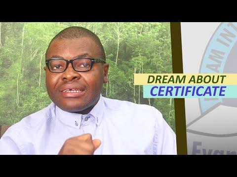 DREAM ABOUT CERTIFICATE - Evangelist Joshua Orekhie ...