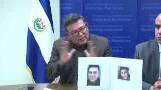 11 12 17 CONFERENCIA DE PRENSA PDDH PRIVACION DE LIBERTAD Y DESAPARICION DE DOS JOVENES