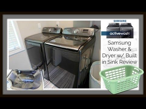Samsung Active Wash Washer + Dryer Review w/ Rinse Sink Demo