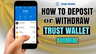 How to DEPOSIT or WITHDRAW on TRUST WALLET | Bitcoin App Tutorial