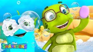 The Bath Song SHARKSONS | Nursery Rhymes & Kids Songs! | Cartoons For Kids | Shark Songs