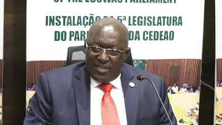 Press briefing of Speaker of the ECOWAS Parliament