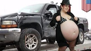 Беременная женщина угнала машину и родила