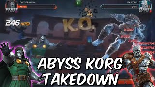 Abyss of Legends Korg Takedown with Doctor Doom! - Marvel Contest of Champions