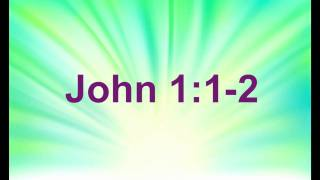 John 1:1-2 - Bible Memory Verse Song For Kids