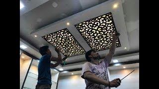MDF जाली False Ceiling में कैसे लगाये ? MDF Jali Fitting In False Ceiling  Garment Store Design