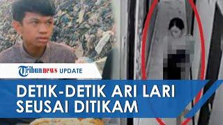 Terekam CCTV, Detik-detik Selebgram Ari Pramata Lari Tanpa Busana seusai Ditikam Kekasih