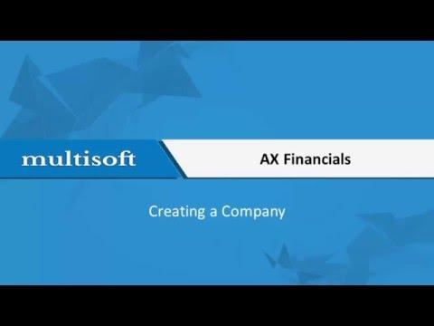 Creating a Company AX Financials Training