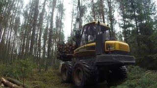 """Zrywka drewna, Ponsse Elephant """""""" loading  """""""""""