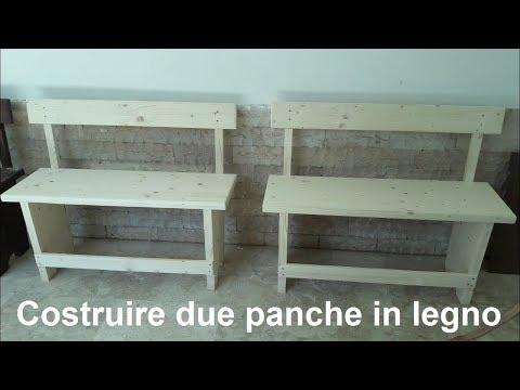 Costruire due comode panche in legno da due posti con pochi attrezzi da falegname. Facile facile!