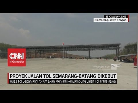 Proyek Jalan Tol Semarang-Batang Dikebut