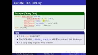 SQL/XML on Oracle Del 1
