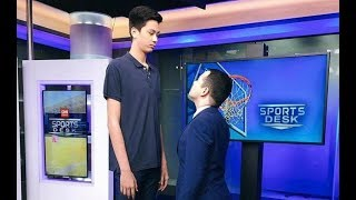 Kai Sotto Shoot or Share with Dad Ervin | CNN Sports Desk | 03.21.17