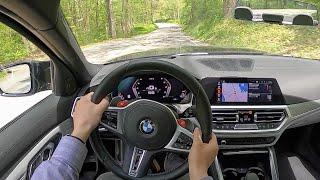 [WR Magazine] 2021 BMW M3 Competition - POV Backroad Blast (Binaural Audio)
