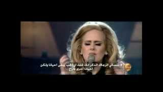 Adele someone like you مترجمه للعربي