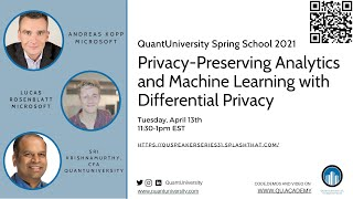 Privacy-preserving Analytics and Machine Learning with Differential Privacy