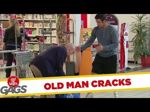 Old Man Back Cracking Sound