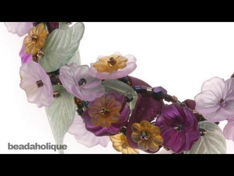 How to Color Lucite Flowers and Leaves with Gilders Paste