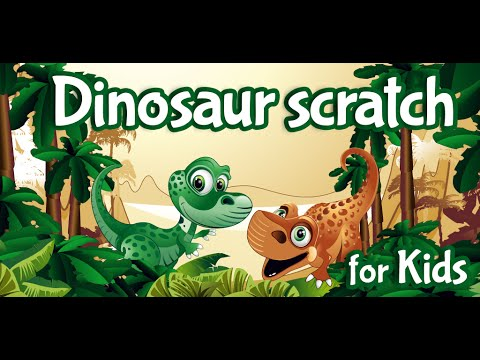 Video of Kids Dinosaur Scratch Off Game
