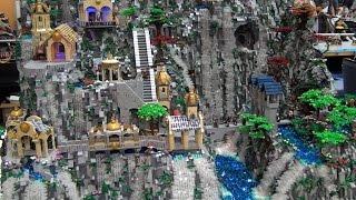 4-foot-tall LEGO Rivendell from The Hobbit – Brickworld Chicago 2015