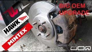 Civic Front Big Budget Brake Upgrade How to get 282mm front brakes with 4 lug studs