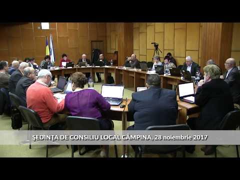 Sedinţă Consiliu Local Câmpina 28 noiembrie 2017