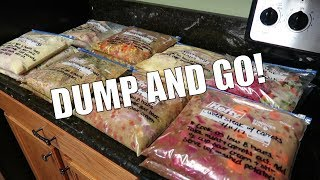 CROCKPOT FREEZER MEALS / PREP WITH ME