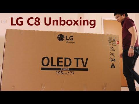 LG 77-inch C8 OLED TV Unboxing
