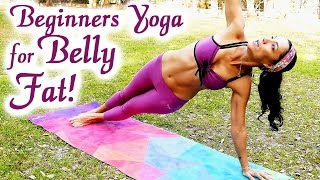 20 Minute Yoga Workout: Bye-Bye BELLY FAT!! Beginners Weight Loss at Home for Abs, Exercise Routine by PsycheTruth