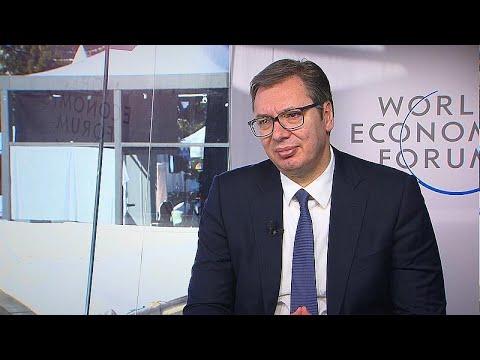 Νταβός: Ο πρόεδρος της Σερβίας, Αλεξάνταρ Βούτσιτς στο Euronews…