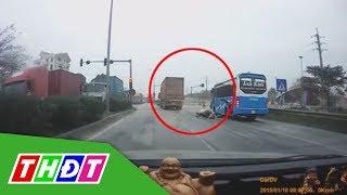 Truy đuổi xe container gây tai nạn như phim hành động   THDT