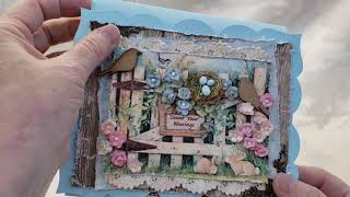 FOR SALE  Shabby Farmhouse Chic Easel Cards