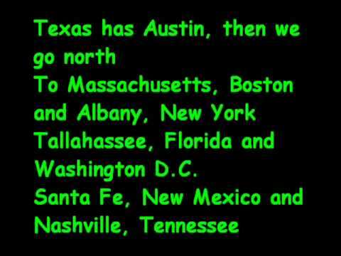 Here Is A Great Way To Remember The States And Their Capitals Just Learn This Little Song Www You Com Watchvdbnievksr