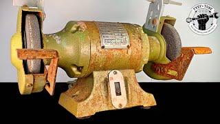 Rusty and Broken Bench Grinder – Restoration