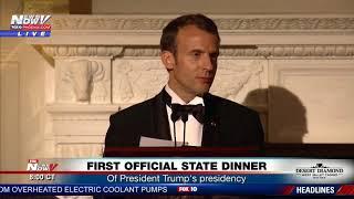 STATE DINNER SPEECHES: Presidents Trump, Macron speak to guests (FNN)