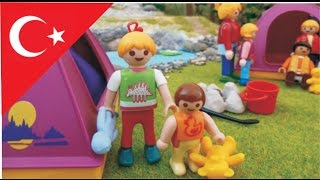 Çocuk filmi  Anokulu ile Kamp Gezisi Playmobil Türkçe Hauser Ailesi